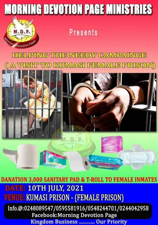 HELPING THE NEEDY CAMPAIGN KUMASI Pr*son, 10 July   Event in Kumasi   AllEvents.in