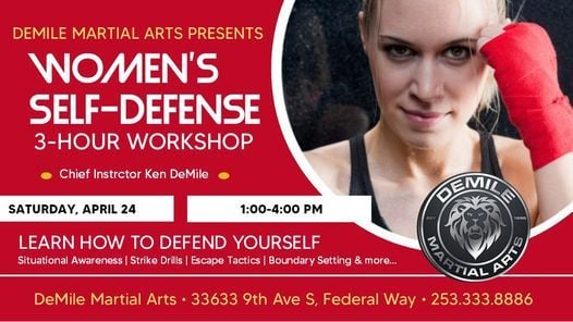 Women's Self-Defense Workshop, 24 April | Event in Federal Way | AllEvents.in