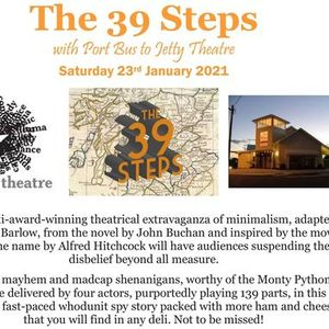 The 39 Steps with Port Bus to Jetty Theatre