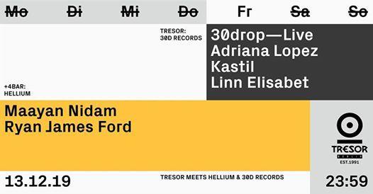 Tresor meets Hellium & 30D Records