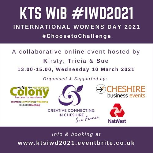 KTS Women in Business - International Women's Day #IWD 2021, 10 March   Online Event   AllEvents.in