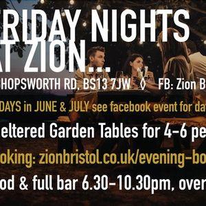 Garden Bar Nights in JuneJuly at Zion