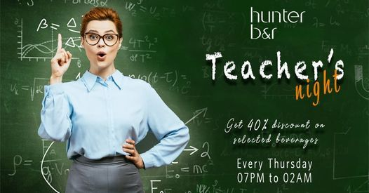 Teacher's Night at Hunters Bar, 5 November | Event in Abu Dhabi | AllEvents.in