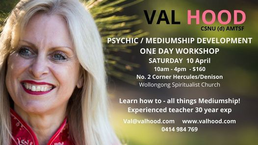 Wollongong Psychic/Mediumship Development Workshop, 10 April   Event in Wollongong   AllEvents.in