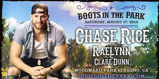 Boots In The Park Fresno With Chase Rice Is This Saturday