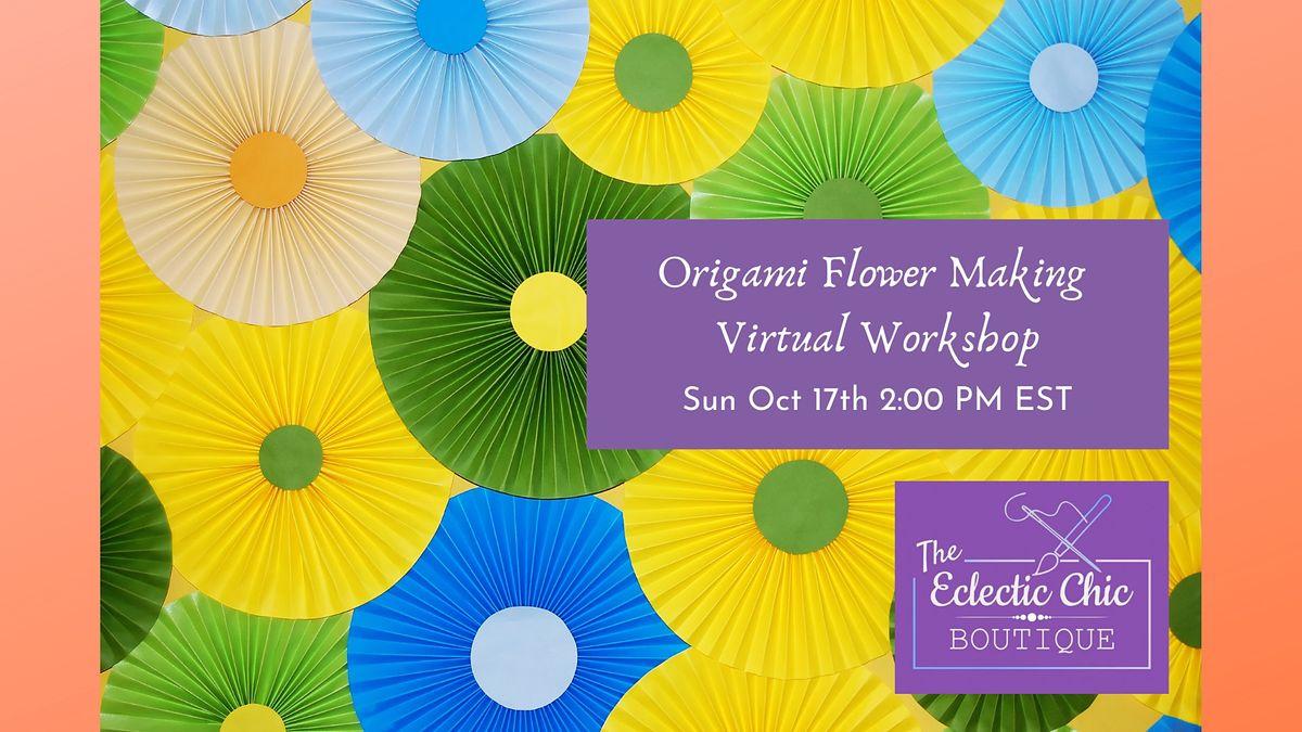 Origami Flower Making Virtual Workshop | Online Event | AllEvents.in