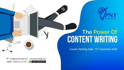 The Power Of Content Writing (Johar Town), 12 December | Event in Lahore | AllEvents.in