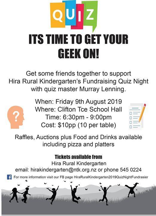 Hira Rural Kindergarten Quiz Night Fundraiser