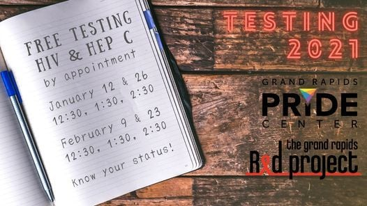 HIV & Hep C Testing at GRPC!, 26 January | Event in Grand Rapids | AllEvents.in
