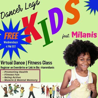 Kids Free Virtual Dance Fitness ft. Milanis