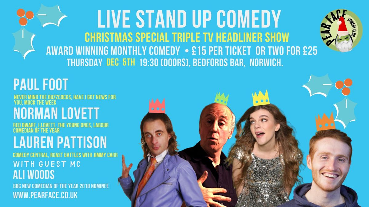 Christmas Special  Stand up with Paul Foot Norman Lovett & Lauren Pattison