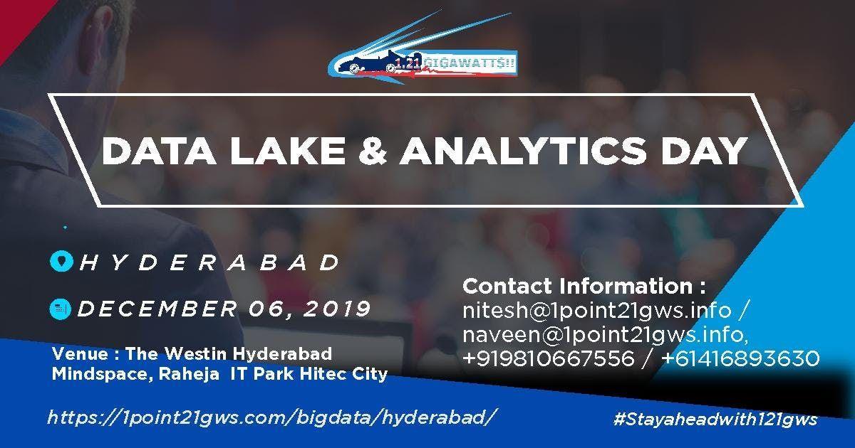 Data Lake and Analytics Day Hyderabad 6 December 2019