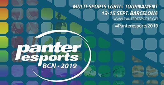 Panteresports 2019. Torneig esportiu lgtbi. 13-15 Setembre 2019