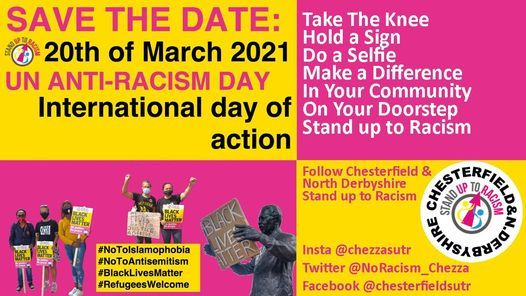 Chesterfield Says No to Racism on UN anti-racism day, 20 March | Event in Chesterfield | AllEvents.in
