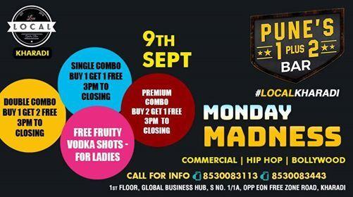 Monday Madness at Local Gastro Bar Kharadi, Pune