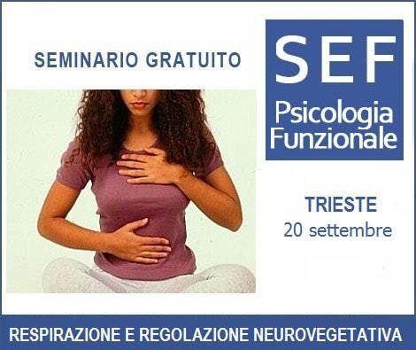 TRIESTE-Seminario Gratuito-RESPIRAZIONE E REGOLAZIONE NEUROVEGETATIVA LINTERVENTO FUNZIONALE ANTISTRESS