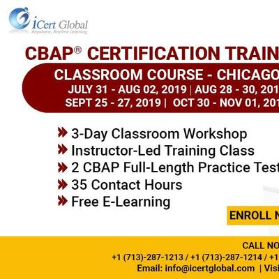 CBAP- (Certified Business Analysis Professional) Certification Training Course in Chicago IL USA.