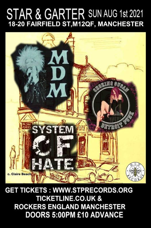 Mere Dead Men, System Of Hate, Thee Acid Tongue, 1 August | Event in Manchester | AllEvents.in