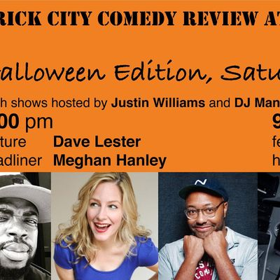 Brick City Comedy Review at All Points West Distillery Halloween 1 Table
