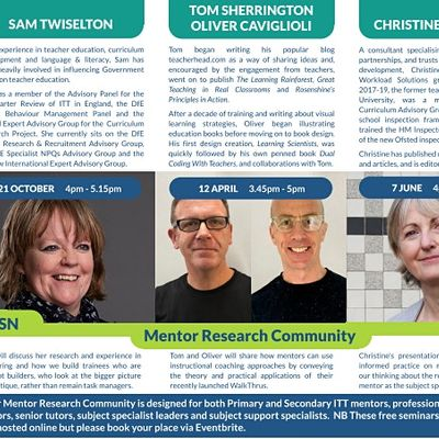 Mentor Research Community with Christine Counsell