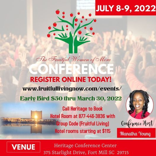 The Fruitful Women of More Conference, 8 July | Event in Fort Mill | AllEvents.in