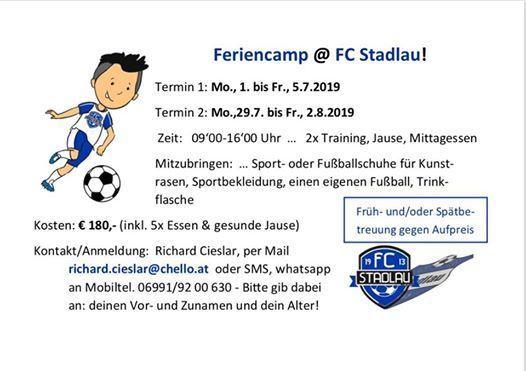 Feriencamp beim FC Stadlau