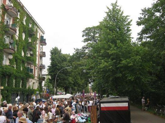 Flohmarkt im Lehmweg in Hamburg