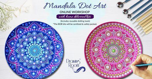Mandala Dot Art Online Workshop with Home Delivered Kits, 20 June | Online Event | AllEvents.in