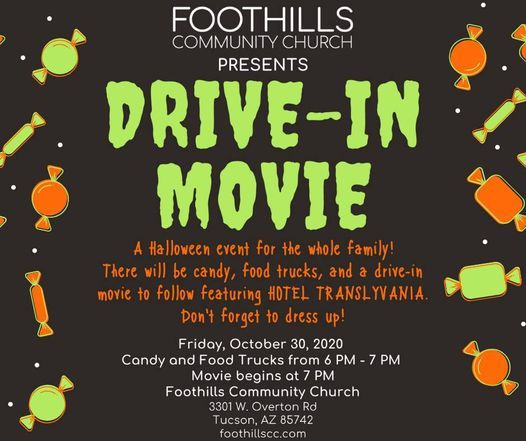 Tucson Halloween Events 2020 FREE DRIVE IN MOVIE: HALLOWEEN EVENT, Fri Oct 30 2020 at 06:00 pm
