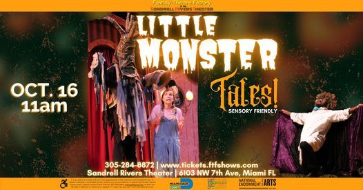 Little Monster Tales LIVE- Sensory Friendly   Event in Miami   AllEvents.in