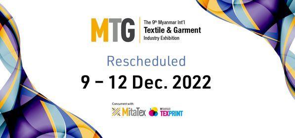 MTG 2022 - Myanmar Int'l Textile & Garment Industry Exhibition, 9 December | Event in Yangon | AllEvents.in