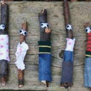 Childrens Saturday Crafts- Stick Men Nature Wands
