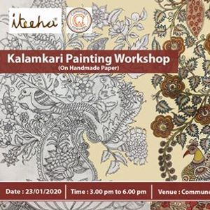 Kalamkari Painting On Handmade Paper