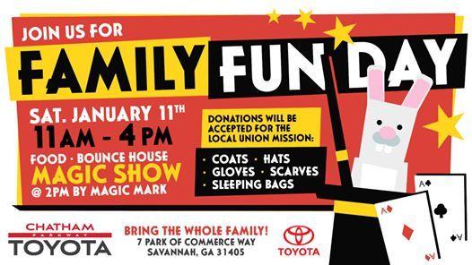 Chatham Parkway Toyota >> Family Fun Day 1 11 2020 At Chatham Parkway Toyota Savannah