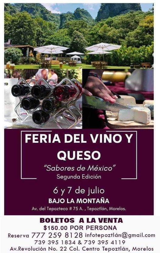 Feria Del Vino Y Queso en Tepoztlán Lo, 30 January | Event in Cuernavaca | AllEvents.in