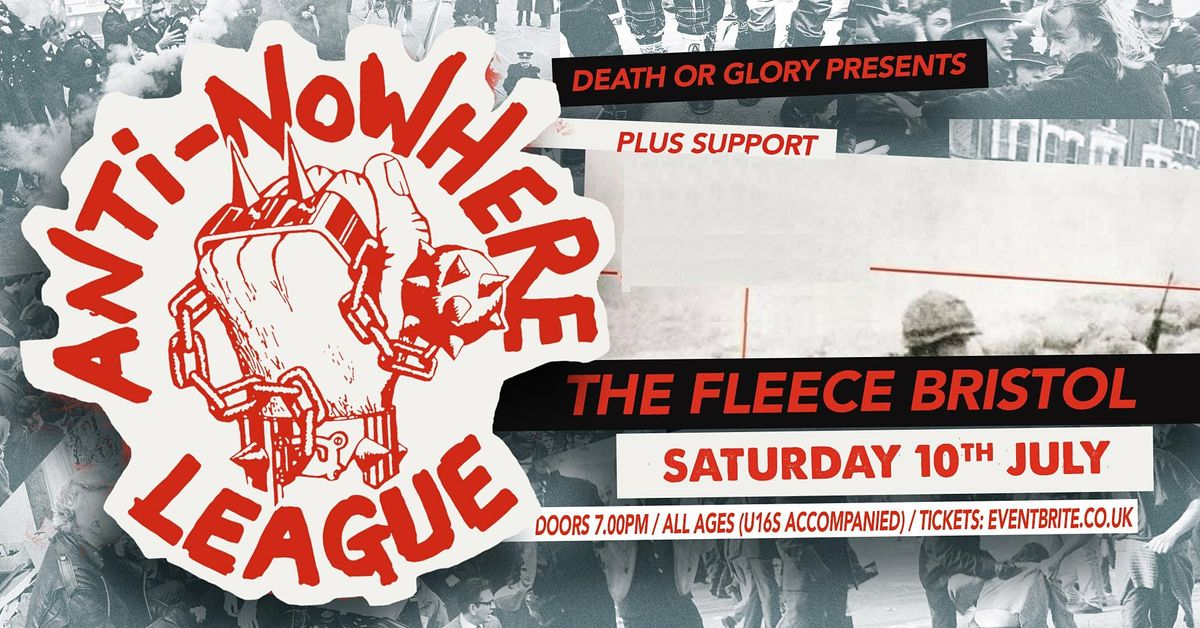 ANTI NOWHERE LEAGUE, 10 July | Event in Bristol | AllEvents.in