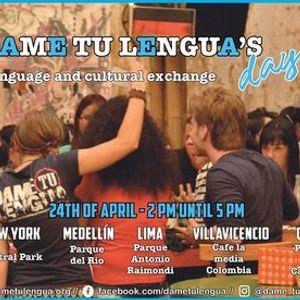 Dame tu Lenguas day Language and cultural exchange.