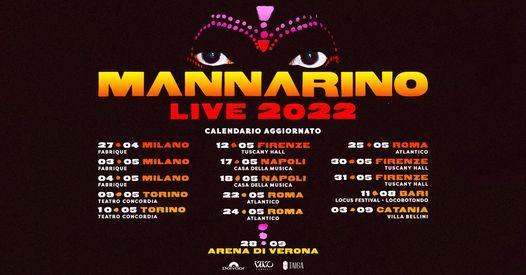 Mannarino in concerto all'Arena di Verona, 8 October | Event in Verona | AllEvents.in