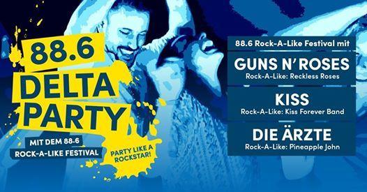 88.6 Delta Party mit dem 88.6 Rock-A-Like Festival