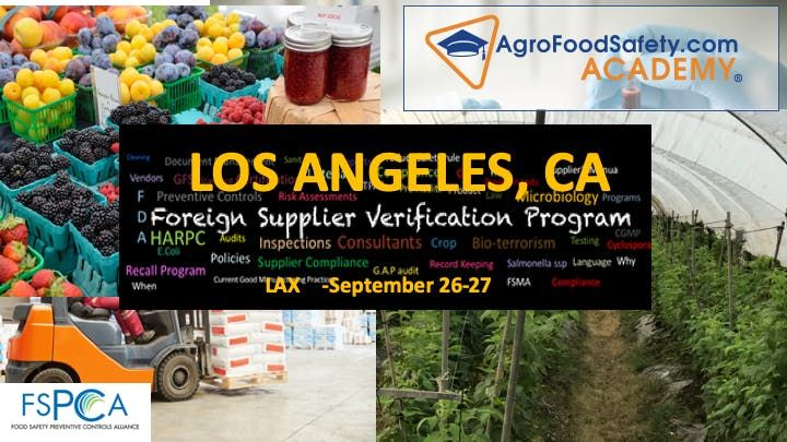 Los Angeles CA -FSVP Importer course (Bilingual) Spanish & English