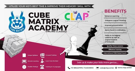 Cube Matrix Online Chess Class, 25 October | Online Event | AllEvents.in