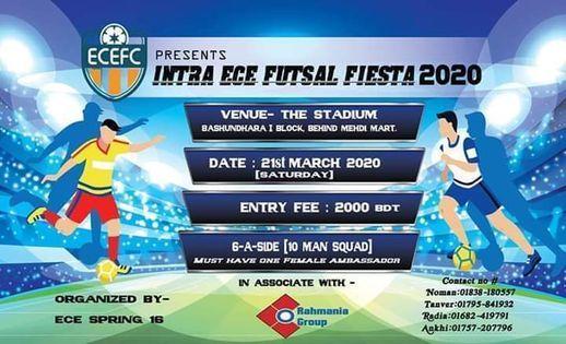 Intra ECE Futsal Fiesta 2021, 4 June | Event in Dhaka | AllEvents.in