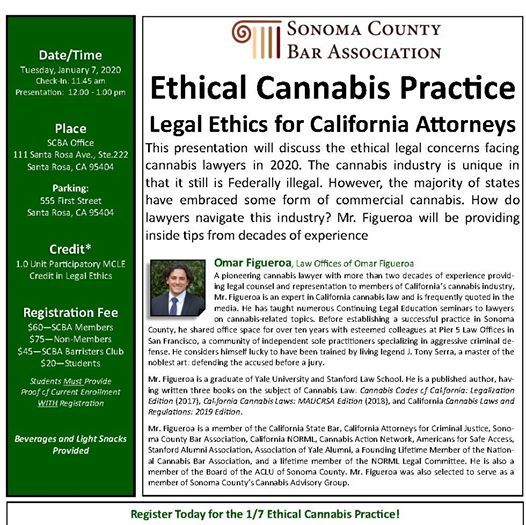 Santa Rosa County Spring Break 2020.Ethical Cannabis Practice At Sonoma County Bar Association