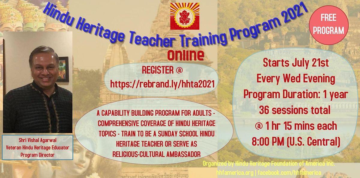 Hindu Heritage Teacher Training 2021 (Online)   Online Event   AllEvents.in