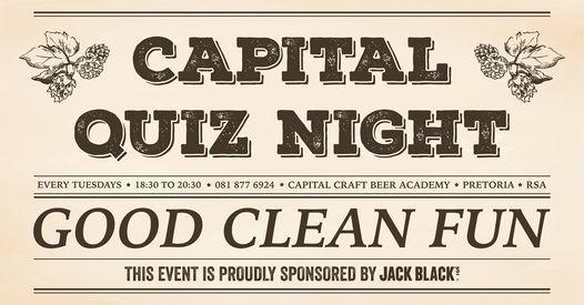 Capital Craft Quiz Night | Event in Menlo Park | AllEvents.in