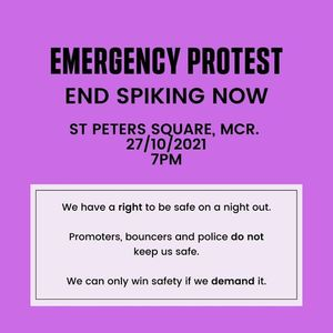 End Spiking Now Emergency Protest