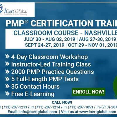 PMP Certification Training In Nashville TN USA  4-Day (PMP) Boot Camp