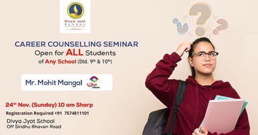 Career Counselling Seminar At Divya Jyot School, Bopal