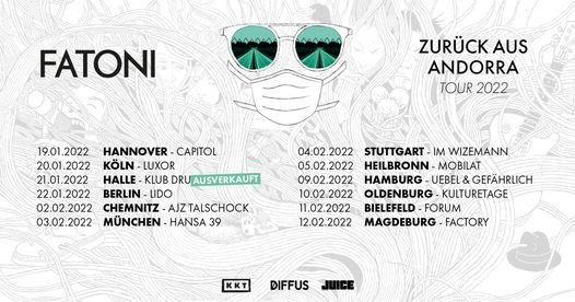 Fatoni - Halle (Saale) - neues Datum 2022!, 21 January | Event in Halle | AllEvents.in