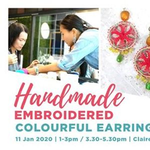 Handmade Embroidered Colourful Earrings Making